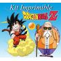 Kit Imprimible Dragon Ball Invitaciones Tarjetas Carteles