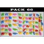 Muñecos Miniaturas Pack 66 Animales Selva