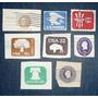 Lote 8 Sellos Timbres Impresos Estados Unidos Usa De Sobre
