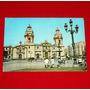 Antigua Postal Catedral Plaza De Armas Lima 1975 Swiss Foto