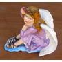 Figura De Angel De Yeso Coloreada Medidas 27x18 Cms. Alt. 25