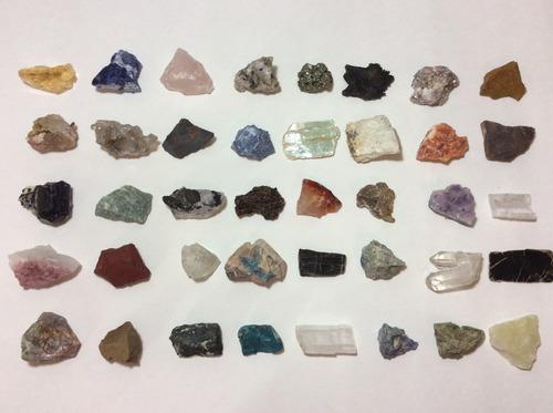 coleção 15 rochas e 40 minerais - predras brutas naturais #1