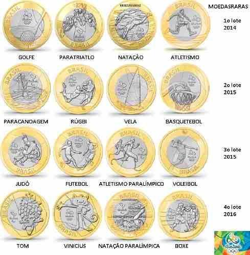 coleção 16 moedas das olimpiadas novas jogos olimpicos fc