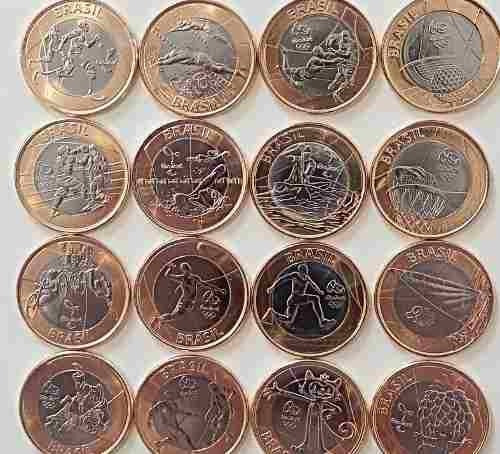 coleção 16 moedas das olimpíadas rio 2016 - jogos olimpicos