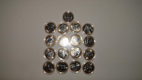 coleção 17 moedas das olimpíadas nas capsulas de acrílico