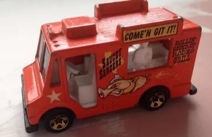 coleção 4 carrinhos furgão food truck dodge pizza surf panel