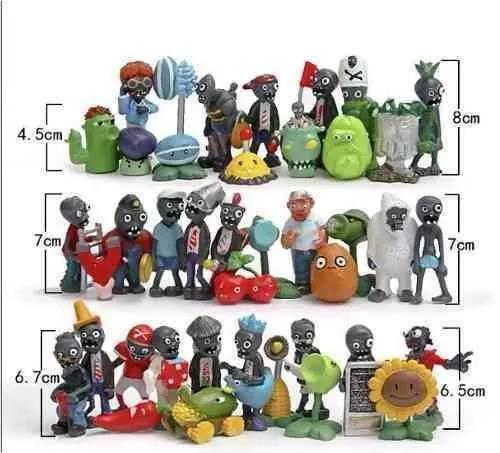 coleção 40 miniaturas plants vs zombies plantas games