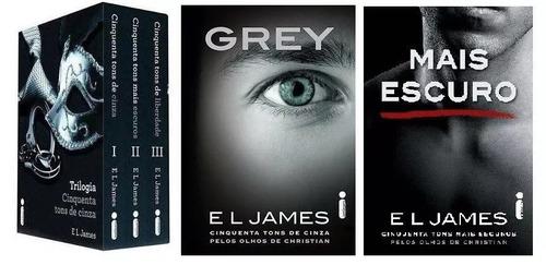 coleção 50 cinquenta tons de cinza completa (5 livros) grey