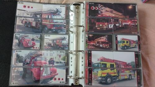 coleção 760 cartões telefônicos tema corpo bombeiros - china