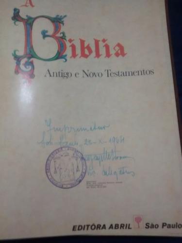 coleção a bíblia antigo e novo testamento editora abril1965