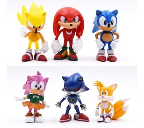 coleção action figure sonic 6 bonecos pronta entrega