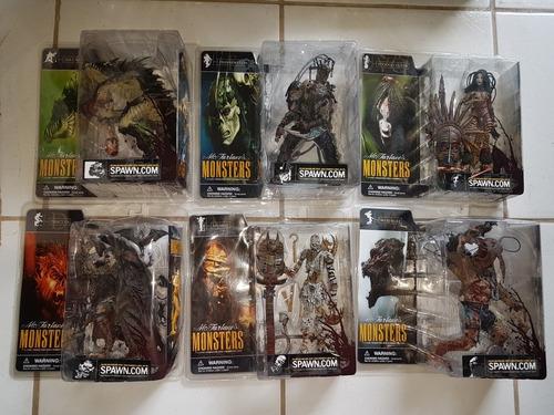 coleção action figure spawn mcfarlane monsters - 6 pcs -
