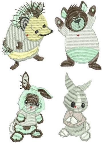 coleção animais baby - 40 matrizes de bordado comp via email