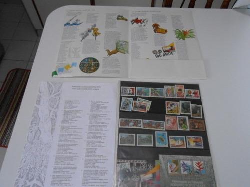 coleção anual álbum de selos do brasil - 1995