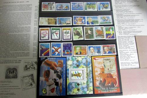 coleção anual selos correios de 1994