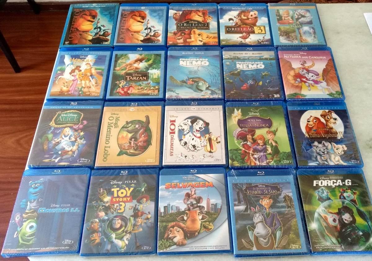 Coleção Blu-ray Disney 21 Filmes Novos Originais