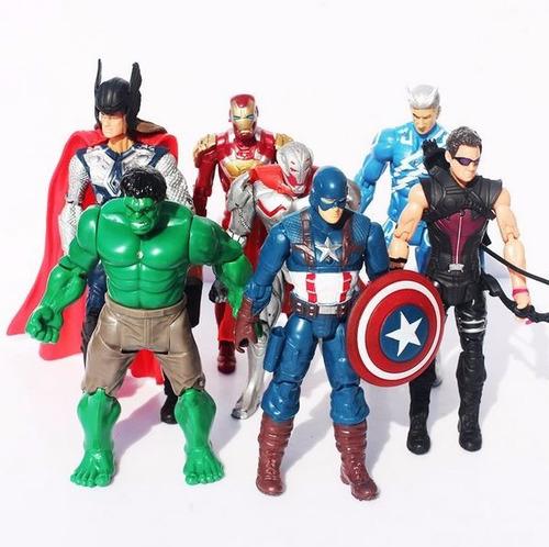 coleção bonecos guerra civil vingadores 10 unidades