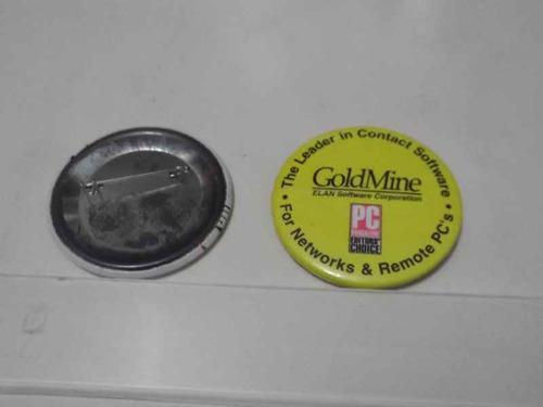 coleção botons - button - pc magazine - gold mine