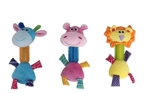 coleção brinquedo para cachorro pelúcia c/ mordedor pawise