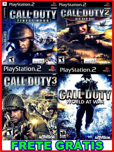 coleção call of duty 4 jogos ps2 pacth + frete grátis !!