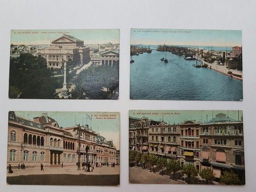 coleção cartões postais raros antigos da argentina lote 3