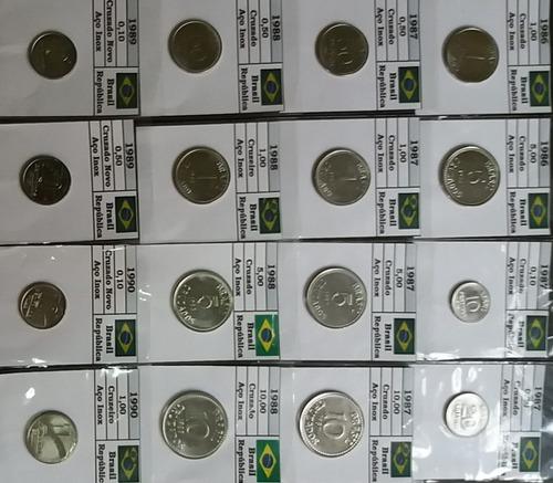 coleção com 334 moedas nacionais brasileiras - 1871/2016