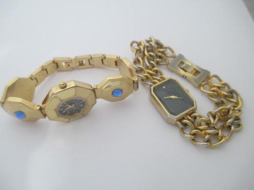 coleção com 7 relógios de pulso - femininos