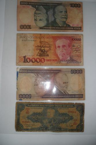 coleção com 70 cédulas e 250 moedas antigas