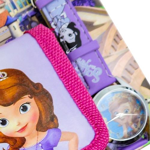 coleção com carteira e relógio de pulso princesinha sofia