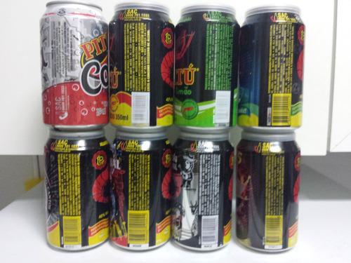 coleção com latas