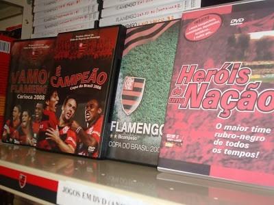 coleção com mais de 800 dvds do flamengo