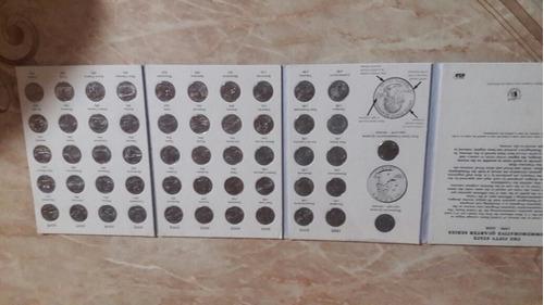 coleção comemorativa de moedas americanas.