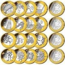 coleção completa 16 moedas olimpiadas - rio 2016