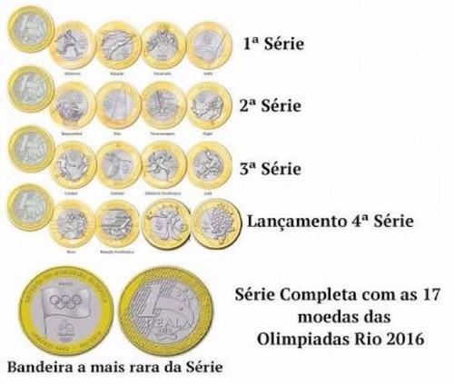 coleção completa das moedas das olimpíadas - 17 moedas