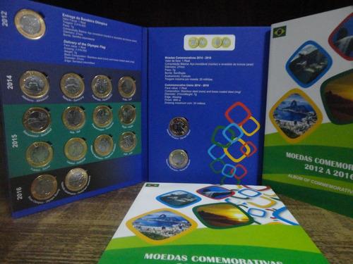 coleção completa das moedas das olimpíadas  - com bandeira
