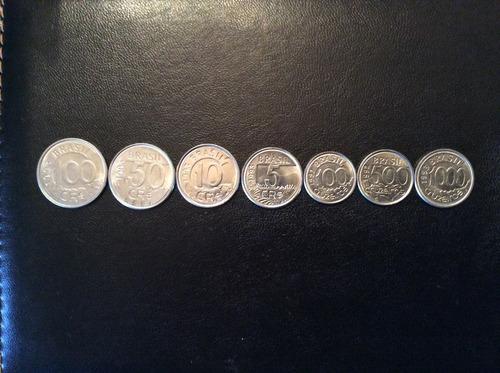 coleção completa de moedas série fauna brasileira - soberbas