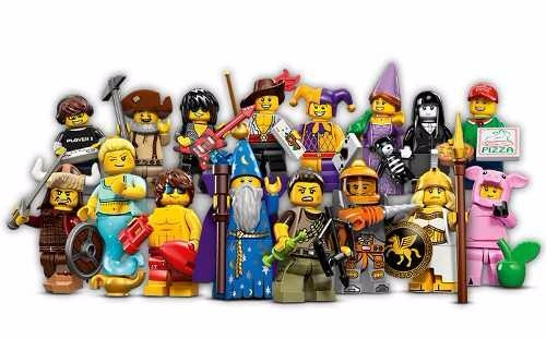 Cole 231 227 O Completa Lego Minifigures Serie 12 16 Bonecos
