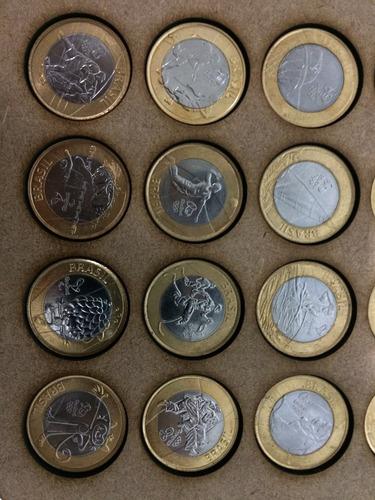 coleção completa moedas rio 2016 olimpiadas com porta moedas