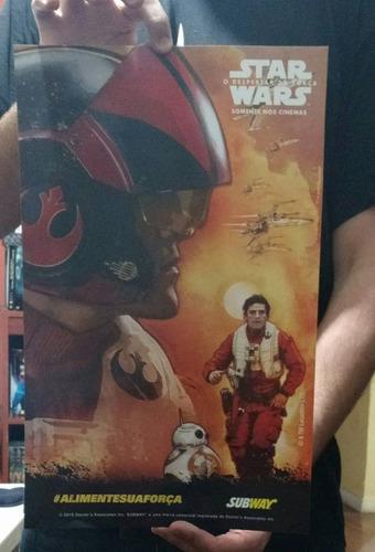 coleção completa pôster star wars 7 - o despertar da força