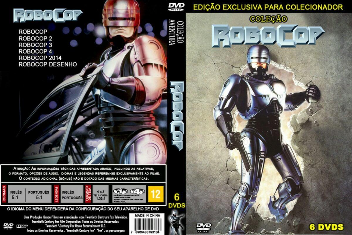 Colecao Completa Robocop 5 Filmes Desenho Animado Total 6d R