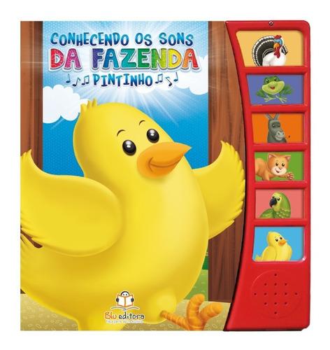 coleção conhecendo os sons da fazenda 4 livros infantis