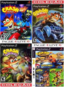 Coleção Crash Bandicoot Ps2 (6 Jogos) Patch - Nitro