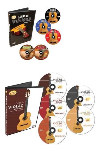 coleção curso completo de violão em 10 dvds - edon-original