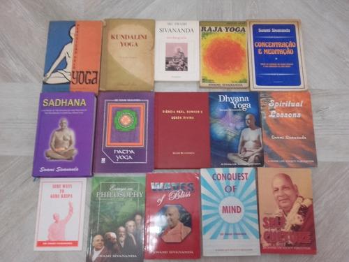 coleção de 16 livros de swami sivananda