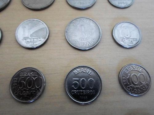 coleção de 30 moedas antigas nacionais