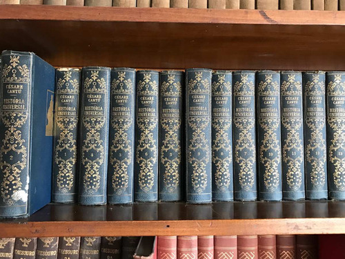coleção de 32  livros de cesare cantu