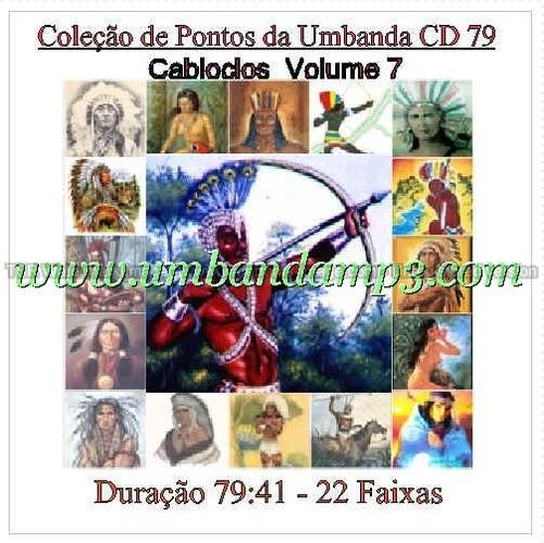 coleção de 7 cds de caboclos na umbanda