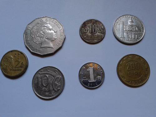 coleção de 71 moedas de vários países