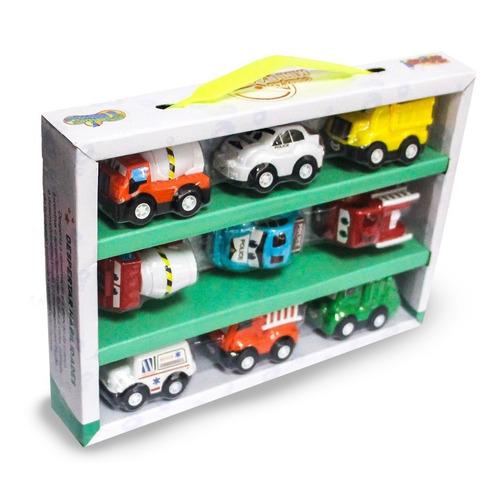 coleção de carrinho mini racing c/ fricção 9un. - zoop toys