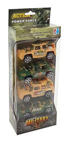 Coleção De Carrinhos Jipe Jeep Militar Miniatura 4 Peças